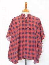 TAKAHIROMIYASHITATheSoloist. oriental buttoned poncho.