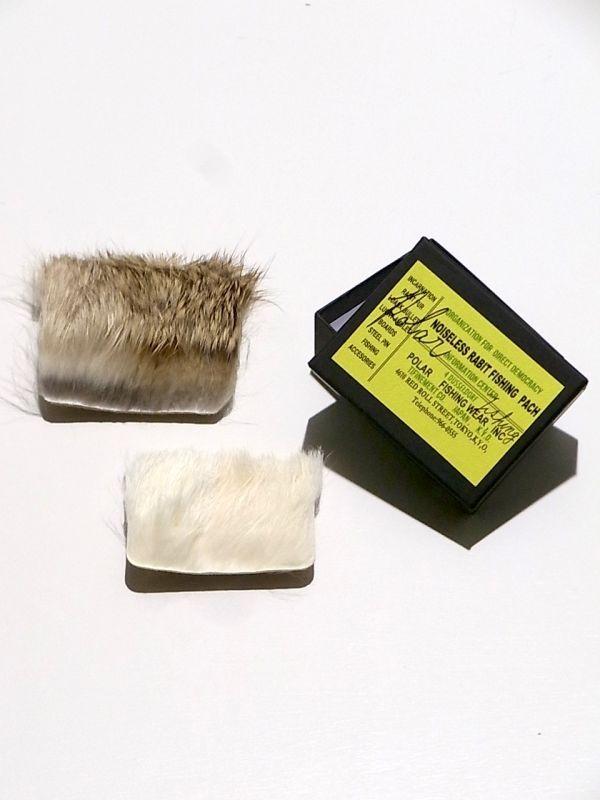 画像1: mountain research / rabbit fur badge(square).