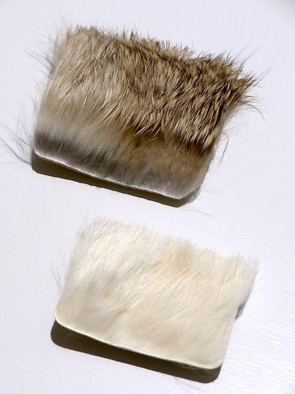 画像2: mountain research / rabbit fur badge(square).