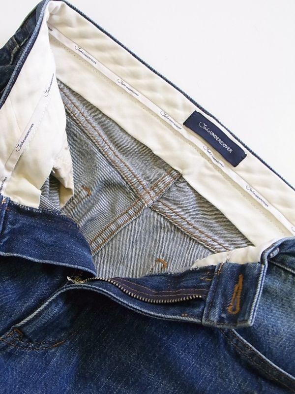 画像4: john undercover/ジョンアンダーカバー cut off denim pants.