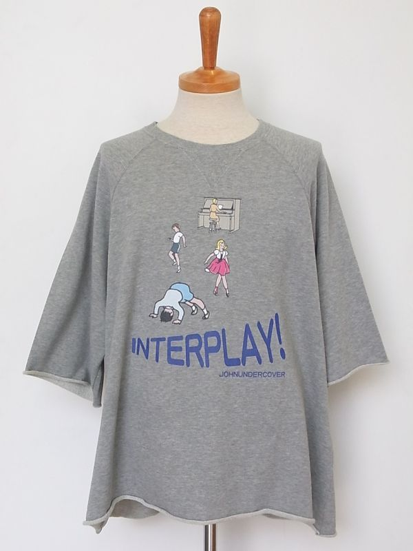 画像1: john undercover/ジョンアンダーカバー  cut off big sweat interplay.