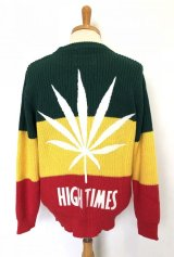 wackomaria  / ワコマリア hightims×wacko maria rasta striped crew neck sweater.