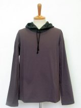 undercover/アンダーカバー hooded l/s tee